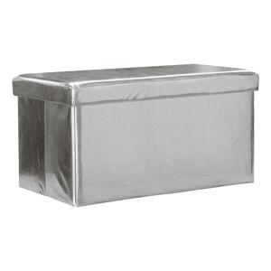 Sedací úložný box strieborný