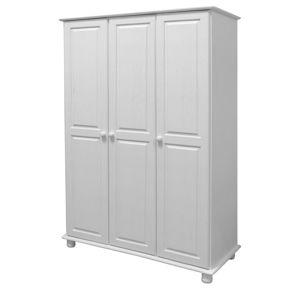 Skriňa 3-dverová 8863B biely lak